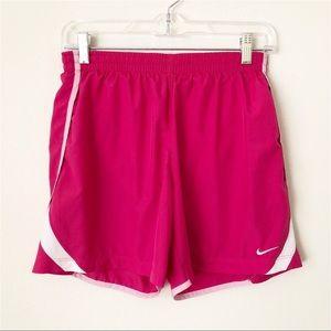 "Nike Dri-Fit 5"" Running Shorts Hot Pink & White XL"
